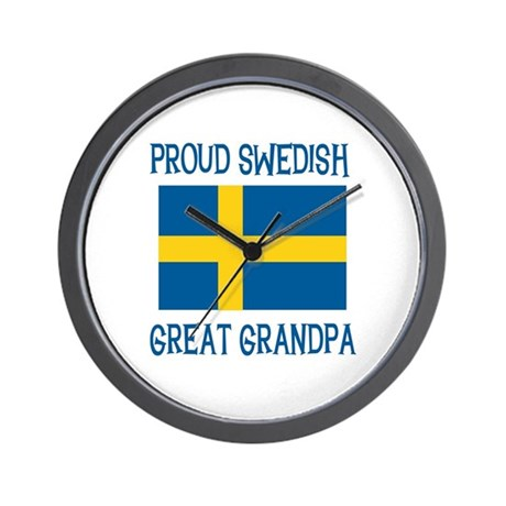 Swedish Great Grandpa Wall Clock
