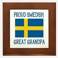 Swedish Great Grandpa Framed Tile