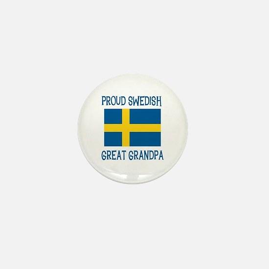 Swedish Great Grandpa Mini Button