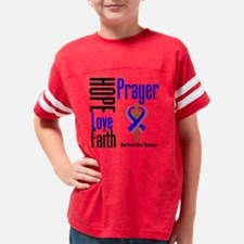 Male Breast Cancer Hope Love  Youth Football Shirt