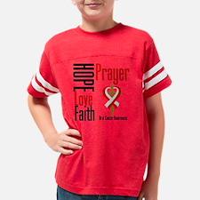 Oral Cancer Hope Love Faith P Youth Football Shirt
