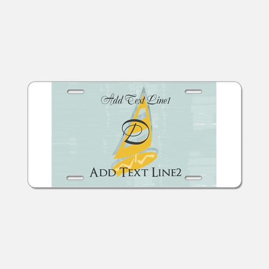 Surfing To School Aluminum License Plate
