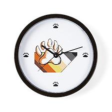 BEAR PRIDE STRIPES & pAWS Wall Clock