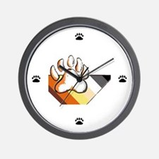 BEAR PRIDE STRIPES & pAWS Wall Clock