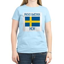 Proud Swedish Mom Women's Pink T-Shirt