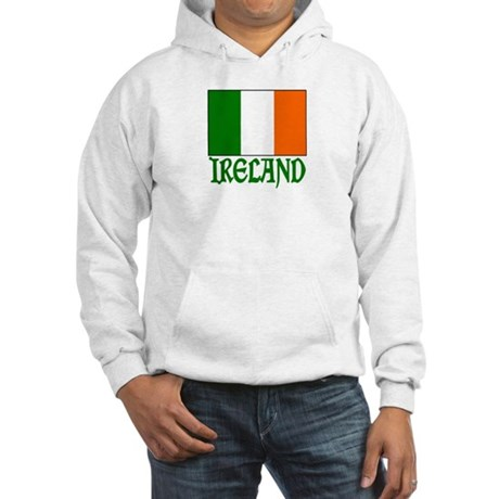 "Irish Flag & Ireland ""Vinque"" Hooded Sweatshirt"