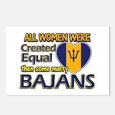Bajans husband designs Postcards (Package of 8)