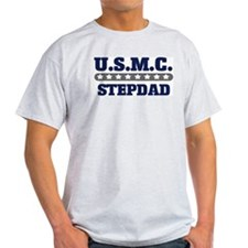 U.S.M.C.  STEPDAD (Marines) Ash Grey T-Shirt