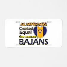 Bajans husband designs Aluminum License Plate