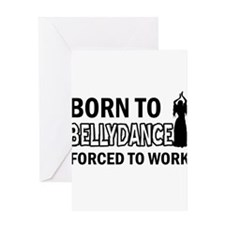 born to bellydance designs Greeting Card