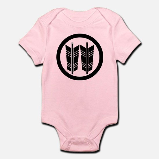 Two parallel arrows in circle Infant Bodysuit
