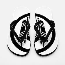 Two parallel arrows in circle Flip Flops
