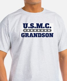 U.S.M.C.  GRANDSON (Marines) Ash Grey T-Shirt