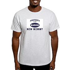 Marine NEW MOMMY Ash Grey T-Shirt