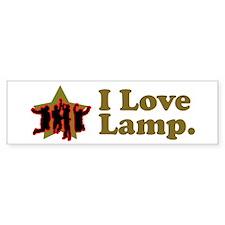 I Love Lamp Bumper Bumper Sticker