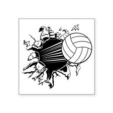 "Volleyball Square Sticker 3"" x 3"""