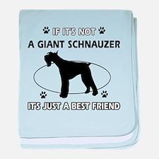 Giant Schnauzer Best Friend Designs baby blanket