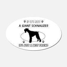 Giant Schnauzer Best Friend Designs Wall Decal