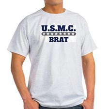 U.S.M.C.  BRAT (Marines) Ash Grey T-Shirt
