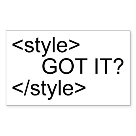 CSS Style Tag Rectangle Sticker