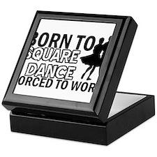 born to square dance designs Keepsake Box