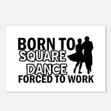 born to square dance designs Postcards (Package of