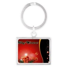 Sunset on the Beach Landscape Keychain