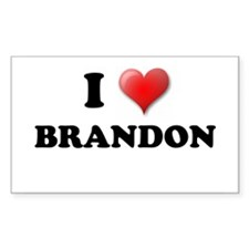 I LOVE BRANDON SHIRT TEE SHIR Sticker (Rectangular