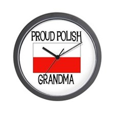 Proud Polish Grandma Wall Clock