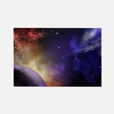 Universe with Planet and Stars Rectangle Magnet
