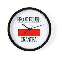 Proud Polish Grandpa Wall Clock