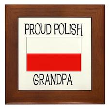 Proud Polish Grandpa Framed Tile