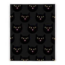 'Black Cats' Throw Blanket