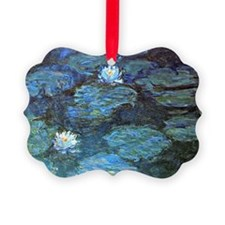 Claude Monet's Water Lilies - Blu Ornament