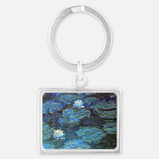 Claude Monet's Water Lilies - B Landscape Keychain