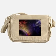 Universe with Planet and Stars Messenger Bag