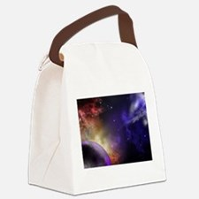 Universe with Planet and Stars Canvas Lunch Bag