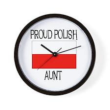 Proud Polish Aunt Wall Clock