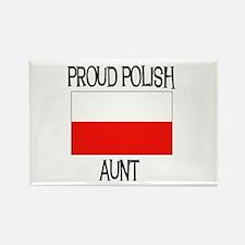 Proud Polish Aunt Rectangle Magnet
