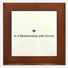 Karina Relationship Framed Tile