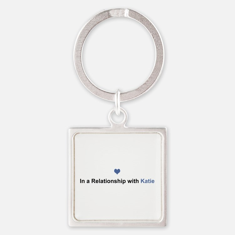 Katie Relationship Square Keychain