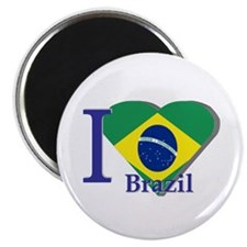 I Love Brazil flag Magnet