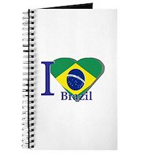 I Love Brazil flag Journal