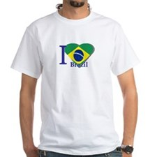 I Love Brazil flag Shirt