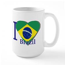 I Love Brazil flag Mug