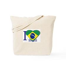 I Love Brazil flag Tote Bag