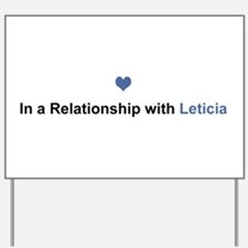 Leticia Relationship Yard Sign
