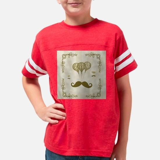 Balloon Moustache Youth Football Shirt