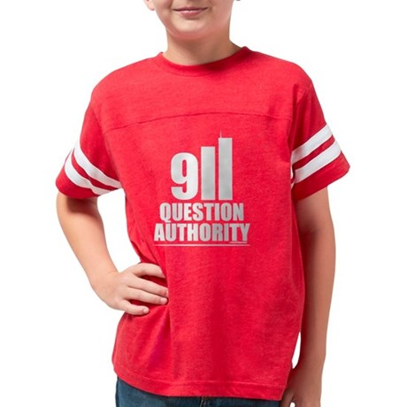 911 QUESTION AUTHORITY Youth Football Shirt