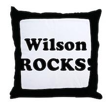 Wilson Rocks! Throw Pillow